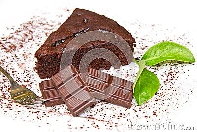 Dark chocolate cake