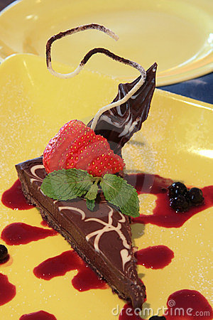 Dark chocolate dessert