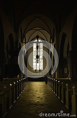 Free Dark Church Interior Royalty Free Stock Photo - 20895545