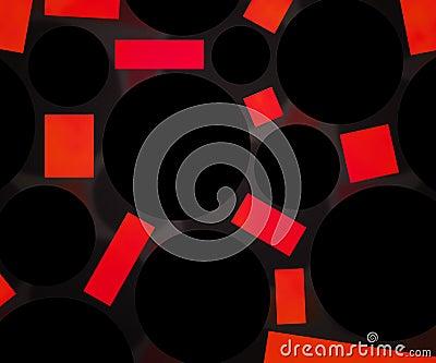 Dark Circles Red Background