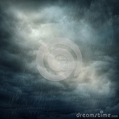 Free Dark Clouds And Rain Stock Photography - 25889872