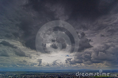 Dark Clouds Over Baia Mare