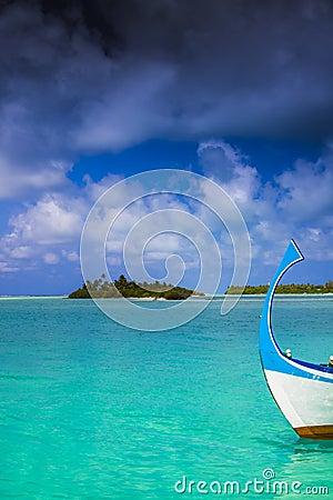 Dark clouds over maldives