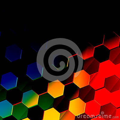 Free Dark Colorful Hexagonal Background. Unique Abstract Hexagon Pattern. Flat Modern Illustration. Vibrant Texture Design. Style. Stock Photography - 52651472