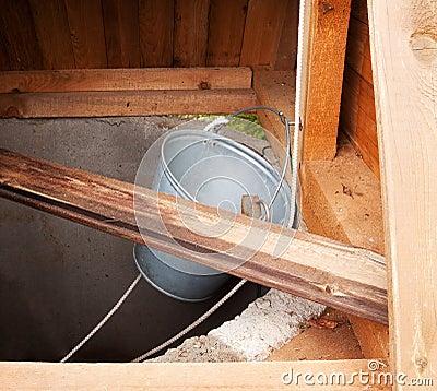Dark draw well - water supply