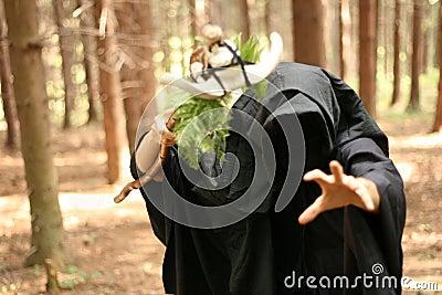 Dark druid casting spell