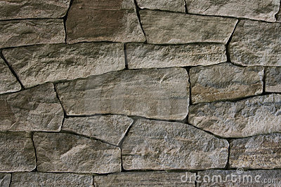 Dark dry stone wall