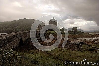 Dark Eilean Donan Castle - HDR image