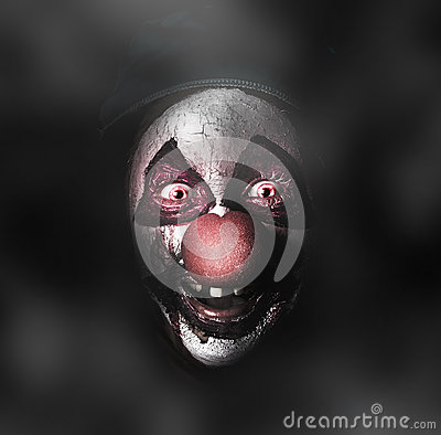Free Dark Evil Clown Face With Scary Joker Smile Stock Images - 33735884