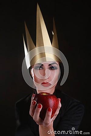 Dark Fantasy Villain Character Wearing Golden Crown