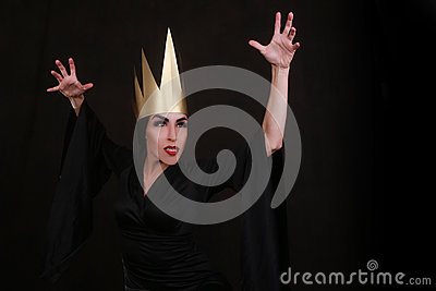 Dark Fantasy Villain Character Wearing Golden Crown