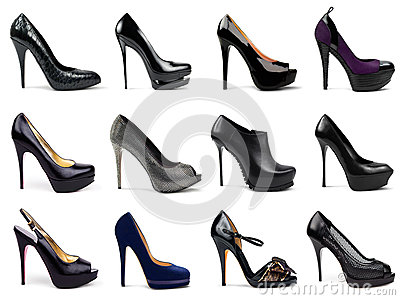 Dark female shoes-5