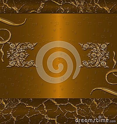 Dark gold banner
