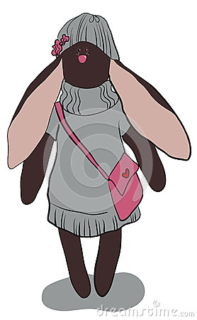 Dark gray rabbit