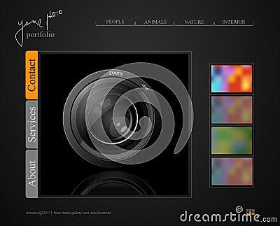 Dark gray web site, portfolio photographer