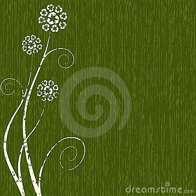 Dark green Recycling-flower concept