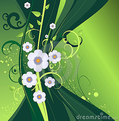 Dark green vector  floral design