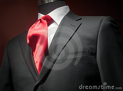 White Shirt Red Tie Suit Jacket Stock Photo - Image: 46924753