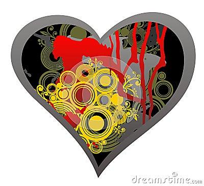 Dark grunge heart