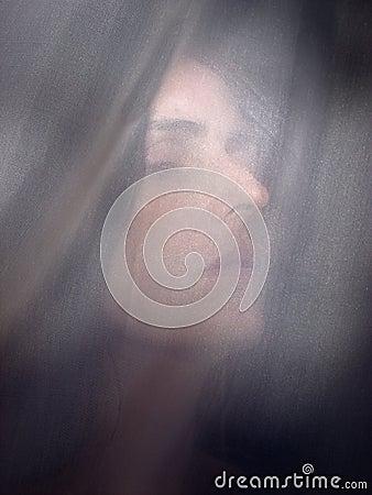 Dark hair woman