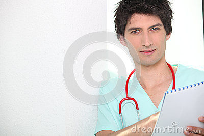 Dark haired doctor