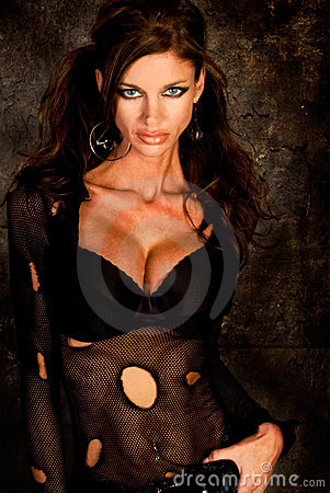 Free Dark Haired Goth Model Royalty Free Stock Photos - 6570518
