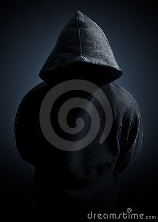 Dark hoodie sweater man