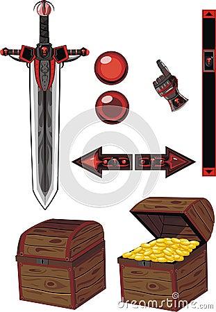 Dark icons set