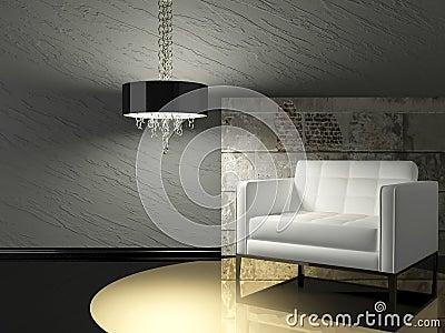 Living Room Design on Dark Interior Design Of Modern Living Room ...