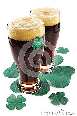 Free Dark Irish Beer For St Patick S Day Stock Image - 1955621