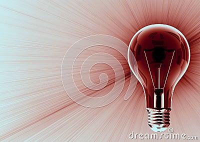 Dark light bulb emitting