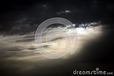 Dark moody sky