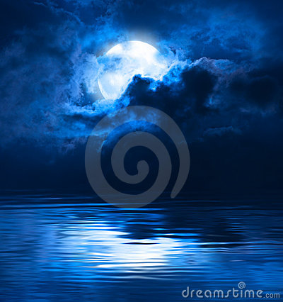 Free Dark Night Full Moon Royalty Free Stock Photography - 19928457