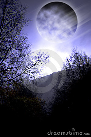 Free Dark Night Full Moon Stock Photo - 7009650