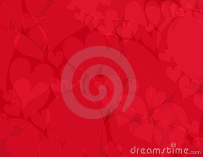 Dark Opaque Red Hearts Background