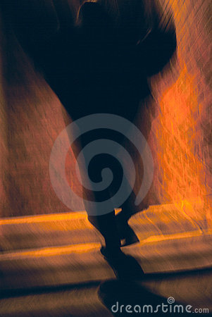 Free Dark Outline On Stairway Stock Photo - 14284190