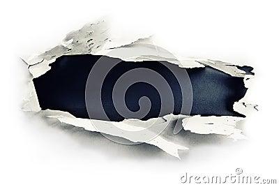 Dark paper hole.