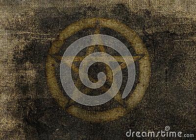 Dark Pentagram Textured Background