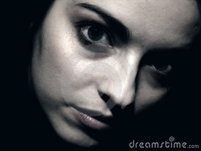 Dark portraits with young girl