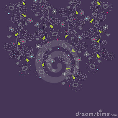 Dark purple floral background