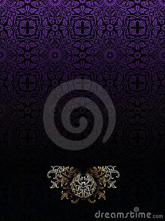 Dark Purple Vintage High Ornate Background