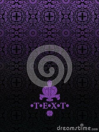Dark Purple Vintage Luxury  Ornate Background