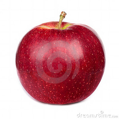 Dark-red apple