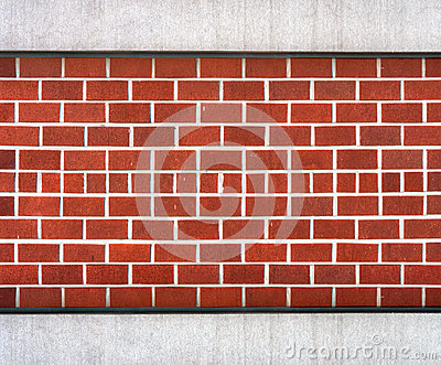 Dark red block brick wall