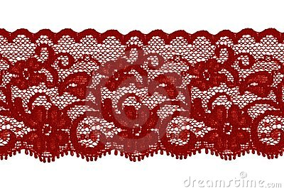 Dark red or brown lace band