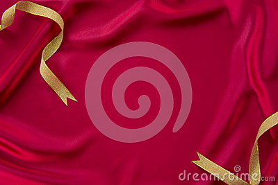 Dark red cloth and ribbon
