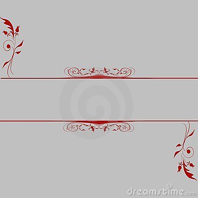 Dark red copyspace grey background