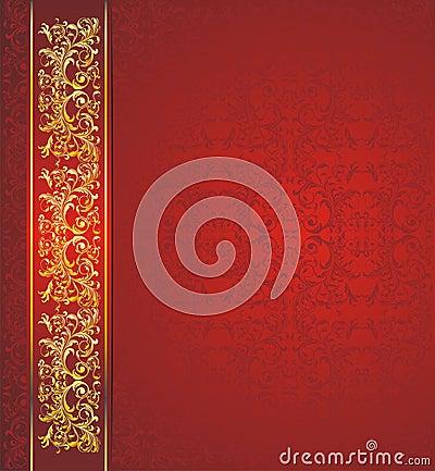 Dark red floral vector background