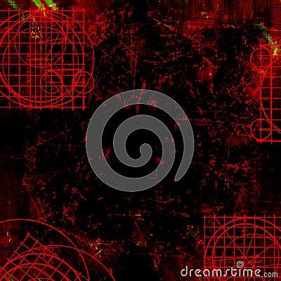 Dark red goth - Grungy background
