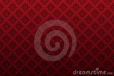 Dark red shield emblem seamless wallpaper